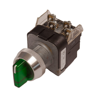 Picture of ALLEN BRADLEY 30 MM SELECTOR SWITCH | GREEN | ILLUMINATED | 3 POSITION | 800T16JG2KB7AX