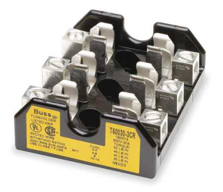 Picture of BUSSMAN FUSE BLOCK | CLASS T | 30 AMP | 3 POLE | T600303CR