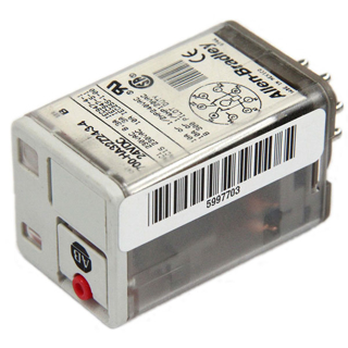 Picture of ALLEN BRADLEY TUBE BASE RELAY | 8 PIN | 10 AMPS | 24 VOLTS | 2 POLES | 700HA32Z24