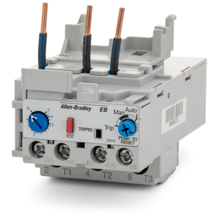 Picture of ALLEN BRADLEY OVERLOAD RELAY | AUTO AND MANUAL RESET | 1.6-5 AMPS | 193-EB1EB