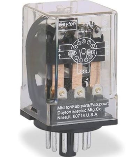 Picture of DAYTON RELAY   3PDT   120VAC   11 PIN   3X742